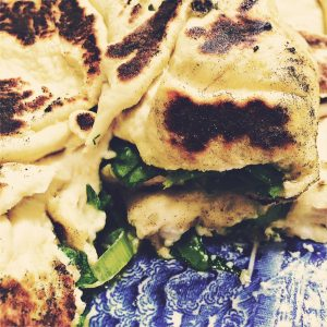 Moldovan breads with cheese and sorrel