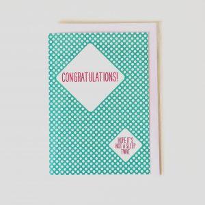 Congratulations! Hope it's not a sleep twat