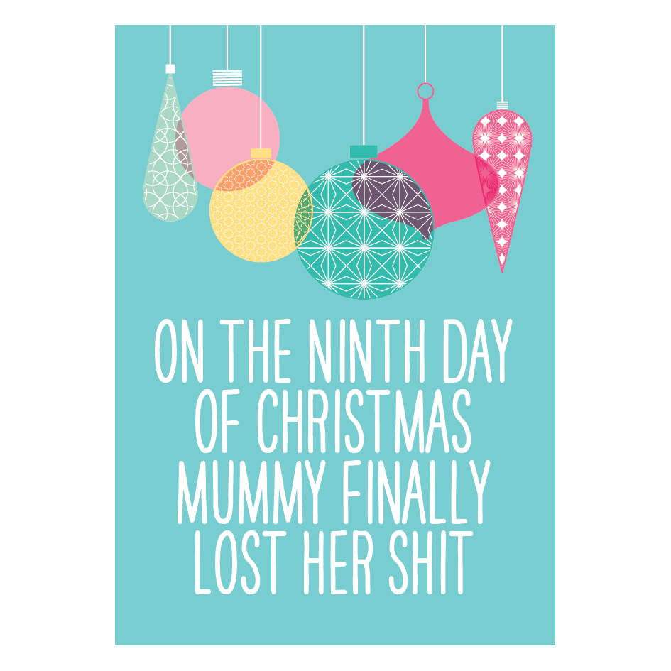 ON THE NINTH DAY Christmas card - This Mama Does